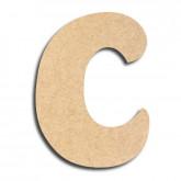 Lettre en bois à peindre «c» minuscule