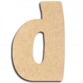 Lettre en bois à peindre «d» minuscule