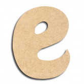 Lettre en bois à peindre «e» minuscule