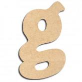 Lettre en bois à peindre «g» minuscule