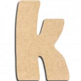 Lettre en bois à peindre «k» minuscule