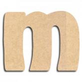 Lettre en bois à peindre «m» minuscule