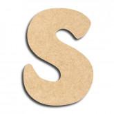 Lettre en bois à peindre «s» minuscule