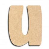Lettre en bois à peindre «u» minuscule