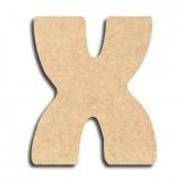 Lettre en bois à peindre «x» minuscule