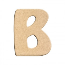 Lettre b peindre d corer lettre en bois brut lettre bois - Lettres en bois a peindre ...