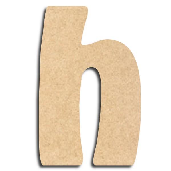 lettre en bois peindre h minuscule lettre bois. Black Bedroom Furniture Sets. Home Design Ideas
