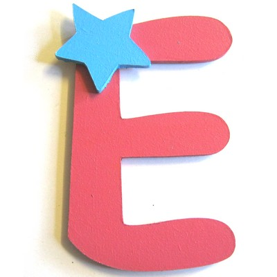 lettre alphabet en bois e d cor e avec une toile lettre. Black Bedroom Furniture Sets. Home Design Ideas