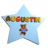 Plaque de porte étoile ourson
