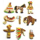 Motifs en bois indien
