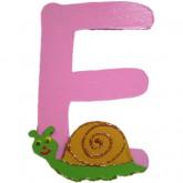 Lettre en bois E comme escargot