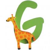 Lettre en bois G comme girafe