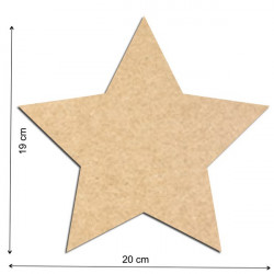 Plaque de porte étoile à peindre