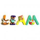 Lettre en bois prénom jouets
