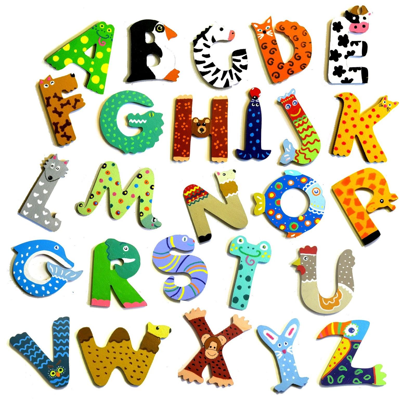 Alphabet Rigolo En Bois