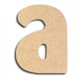 Lettre en bois à peindre «a» minuscule