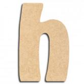 Lettre en bois à peindre «h» minuscule