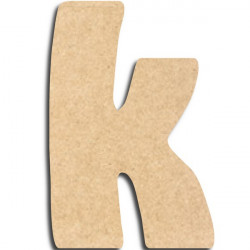 lettre en bois peindre k minuscule lettre bois. Black Bedroom Furniture Sets. Home Design Ideas