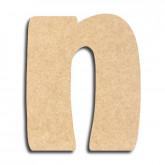Lettre en bois à peindre «n» minuscule
