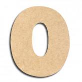 Lettre en bois à peindre «o» minuscule