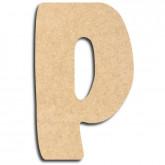 Lettre en bois à peindre «p» minuscule