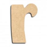 Lettre en bois à peindre «r» minuscule