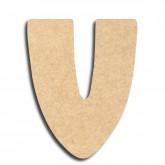 Lettre en bois à peindre «v» minuscule