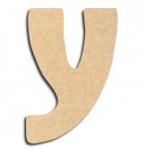 Lettre en bois à peindre «y» minuscule