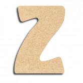 Lettre en bois à peindre «z» minuscule