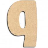 Lettre en bois à peindre «q» minuscule