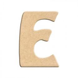 Lettre en bois à peindre E