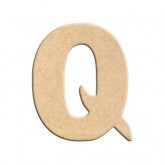 Lettre en bois à peindre Q