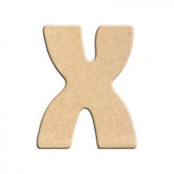 lettre x peindre d corer lettre en bois brut lettre. Black Bedroom Furniture Sets. Home Design Ideas