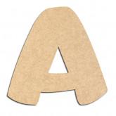 Lettre en bois à décorer A- Alphabet Auto Toy