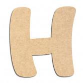 Lettre en bois à décorer H- Alphabet Auto Toy