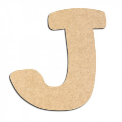 Lettre en bois à décorer J- Alphabet Auto Toy