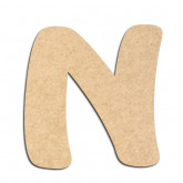 Lettre en bois à décorer N - Alphabet Auto Toy