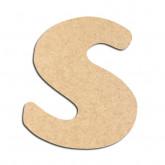 Lettre en bois à décorer S - Alphabet Auto Toy