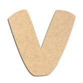 Lettre en bois à décorer V - Alphabet Auto Toy