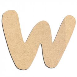 Lettre en bois à décorer W - Alphabet Auto Toy