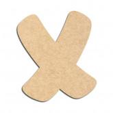 Lettre en bois à décorer X - Alphabet Auto Toy