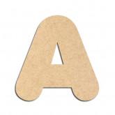 Lettre en bois à décorer A - Alphabet Bubble