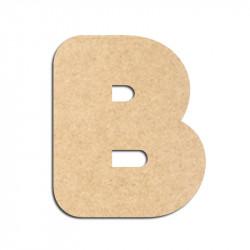 Lettre en bois à décorer B - Alphabet Bubble
