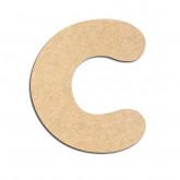 Lettre en bois à décorer C - Alphabet Bubble