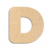 Lettre en bois à décorer D - Alphabet Bubble