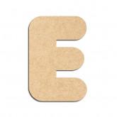 Lettre en bois à décorer E - Alphabet Bubble