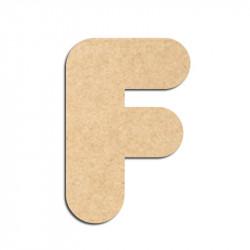 Lettre en bois à décorer F - Alphabet Bubble