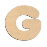 Lettre en bois à décorer G - Alphabet Bubble