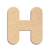 Lettre en bois à décorer H - Alphabet Bubble