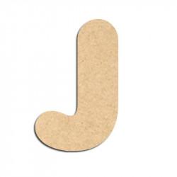 Lettre en bois à décorer J - Alphabet Bubble